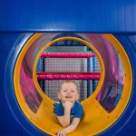 Party and Play Funhouse Bolton Yellow See Through Tunnel