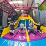 Party and Play Funhouse Bolton Rainbow Slide Happy Children