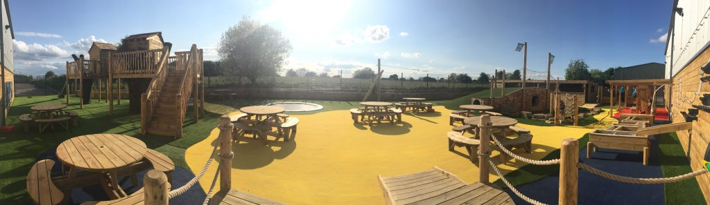 Party and Play Outdoor Area Panorama